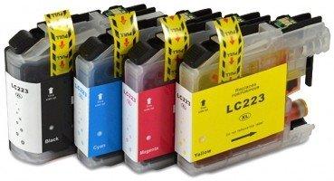 Brother compatible inktcartridges LC-223 Set 4 Stuks